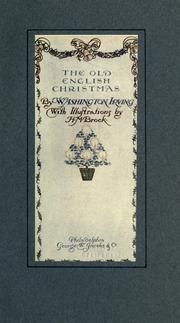 Cover of: The old English Christmas