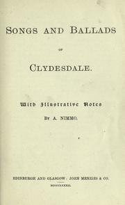 Cover of: Songs and ballads of Clydesdale |