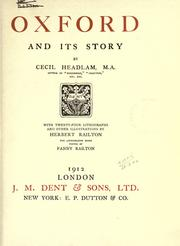 Cover of: Oxford and its story