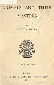 Cover of: Animals and their masters