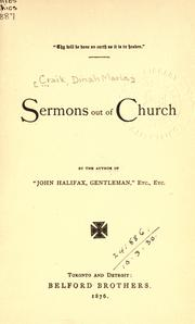 Cover of: Sermons out of church