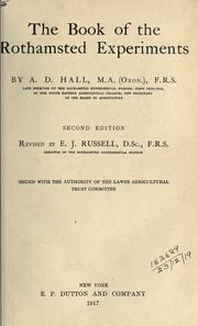 Cover of: The book of the Rothamsted experiments