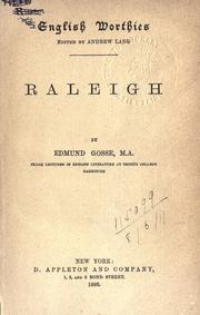 Raleigh by Edmund Gosse