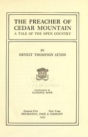 Cover of: The preacher of Cedar Mountain: a tale of the open country