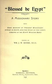 Cover of: Blessed be Egypt | William J. W. Roome