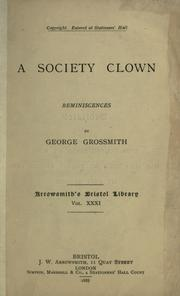 Cover of: A society clown