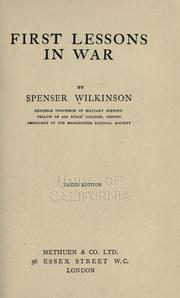 Cover of: First lessons in war