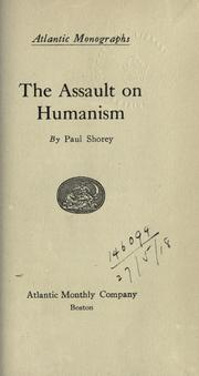 Cover of: The assault on humanism
