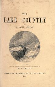 Cover of: The lake country | Elizabeth Lynn Linton