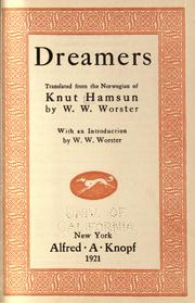 Cover of: Dreamers | Knut Hamsun