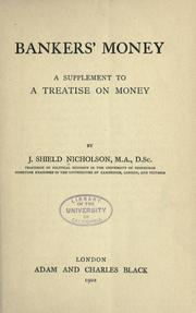 Cover of: Bankers' money | Joseph Shield Nicholson