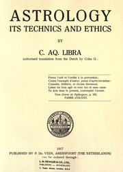 Cover of: Astrology, its technics and ethics | Libra, C. Aq. pseud.