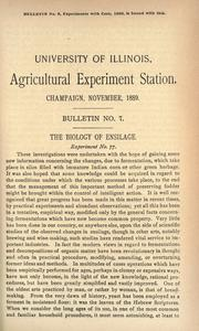 Cover of: The biology of ensilage | Thomas Jonathan Burrill