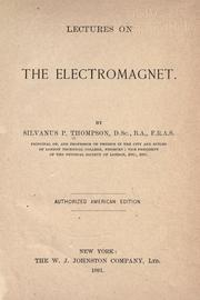 Cover of: Lectures on the electromagnet