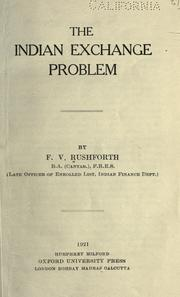 Cover of: The Indian exchange problem
