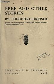 Cover of: Free and other stories