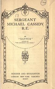 Cover of: Sergeant Michael Cassidy, R. E