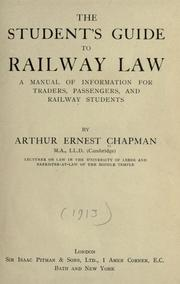Cover of: The student's guide to railway law