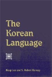 Cover of: The Korean language