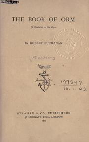 Cover of: The book of Orm, a prelude to the epic