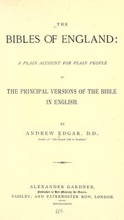 Cover of: The Bibles of England