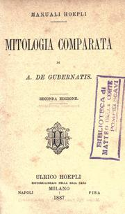 Cover of: Mitologia comparata