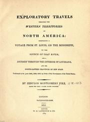 Cover of: Exploratory travels through the western territories of North America