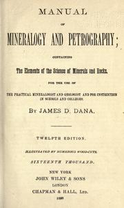 Manual of mineralogy and petrography by James D. Dana