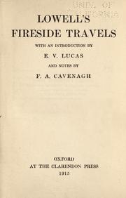 Cover of: Lowell's Fireside travels