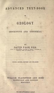 Cover of: Advanced text-book of geology, descriptive and industrial