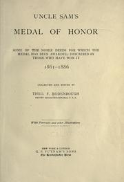 Uncle Sam's Medal of Honor by Theophilus F. Rodenbough