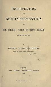 Cover of: Intervention and non-intervention