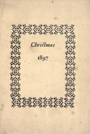 Cover of: Christmas, 1897