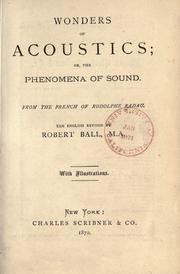 Cover of: Wonders of acoustics