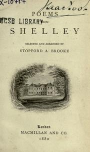 Cover of: Poems from Shelley | Percy Bysshe Shelley