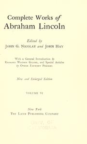 Cover of: Complete works of Abraham Lincoln