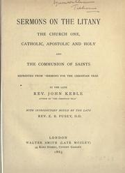 Cover of: Sermons on the litany