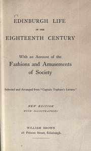 Cover of: Edinburgh life in the eighteenth century