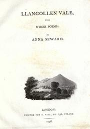 Cover of: Llangollen vale, with other poems