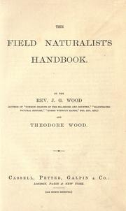 Cover of: The field naturalist's handbook