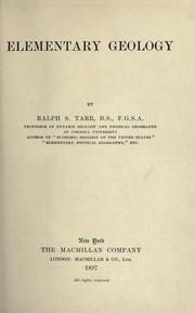 Cover of: Elementary geology