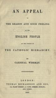 Cover of: An appeal to the reason and good feeling of the English people