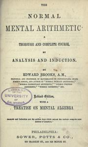 Cover of: The normal mental arithmetic | Brooks, Edward