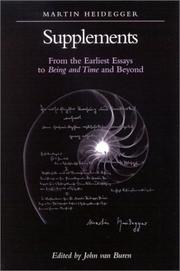Cover of: Supplements: From the Earliest Essays to Being and Time and Beyond (S U N Y Series in Contemporary Continental Philosophy)
