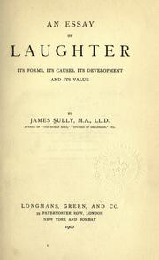 Cover of: An essay on laughter