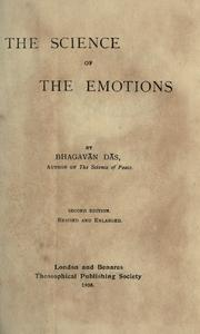 Cover of: The science of the emotions