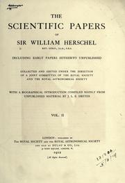 Cover of: Scientific papers, including early papers hitherto unpublished