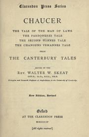 Cover of: The tale of the man of lawe ; The pardoneres tale ; The second nonnes tale ; The chanouns yemannes tale: from The Canterbury tales