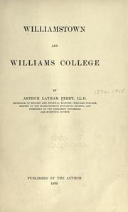 Cover of: Williamstown and Williams college