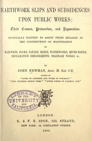 Cover of: Earthwork slips and subsidences upon public works